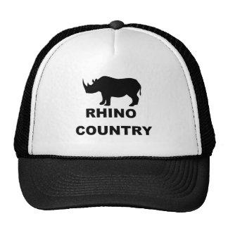 País del rinoceronte gorra