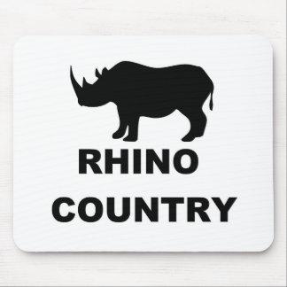 País del rinoceronte tapetes de raton