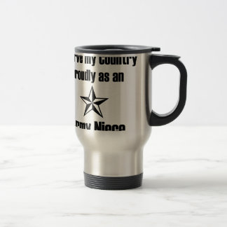 País del servicio de la sobrina del ejército tazas de café