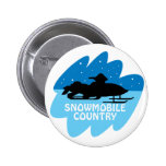 País del Snowmobile Pin
