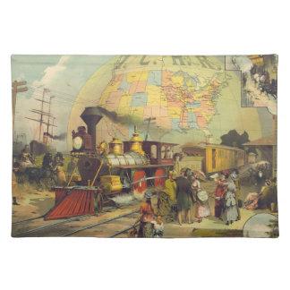 País del tren de la CAMISETA Mantel