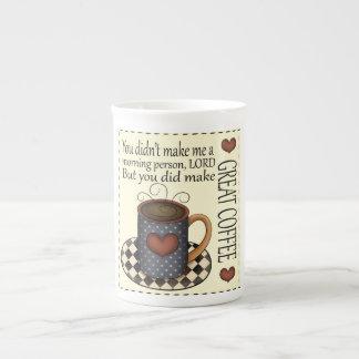País divertido chistoso del gran café remilgado taza de té