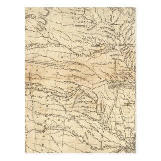 País drenado por la sección occidental de Mississi Tarjeta Postal