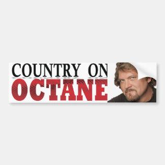 país en pegatina para el parachoques del octano pegatina de parachoque