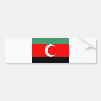 país étnico de Sudán de la bandera de la región de Pegatina De Parachoque