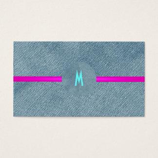País femenino del monograma de moda moderno de los tarjetas de visita