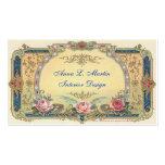País francés elegante del vintage plantillas de tarjetas de visita