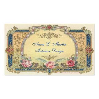 País francés elegante del vintage tarjetas de visita