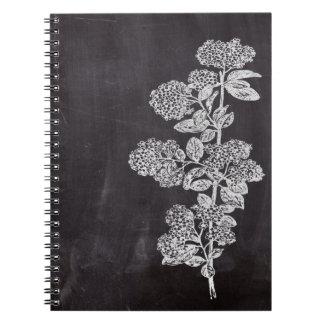 país francés floral de la pizarra elegante libros de apuntes
