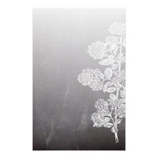 país francés floral de la pizarra elegante papelería
