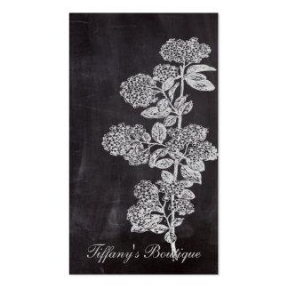país francés floral de la pizarra elegante tarjetas de visita