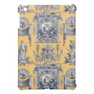 País francés neoclásico Toile azul y amarillo