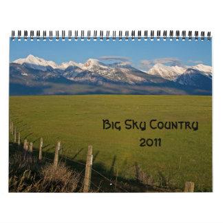 País grande 2011 del cielo calendario