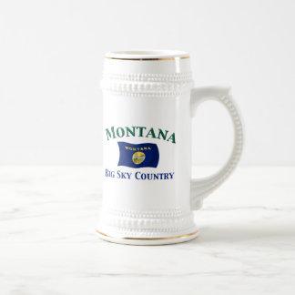 País grande del cielo de Montana Taza