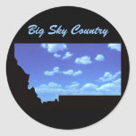País grande del cielo pegatina redonda