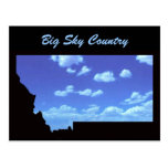 País grande del cielo postal