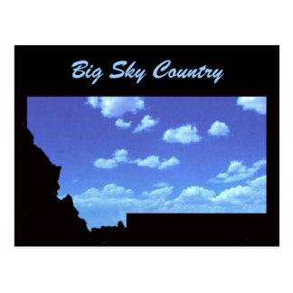 País grande del cielo postales