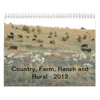 País, granja, rancho y rural - 2012 calendarios de pared