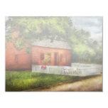 País - granja - una pequeña casa de la granja invitación 10,8 x 13,9 cm
