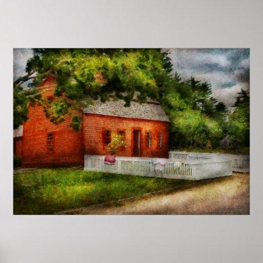 País - granja - una pequeña casa de la granja impresiones