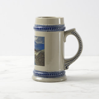 País hermoso en un stein jarra de cerveza