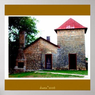país histórico de la colina de Tejas Posters