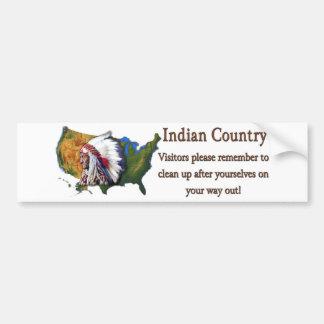 País indio #2 pegatina de parachoque