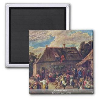 País Kermis., por Teniers D.J., David Imanes Para Frigoríficos