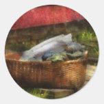 País - lavadero etiqueta redonda