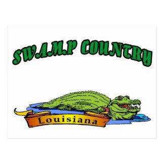 País Luisiana del pantano Postal