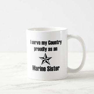 País marino del servicio de la hermana taza