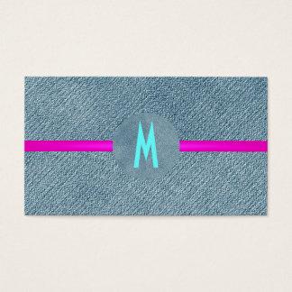 País moderno del monograma de los vaqueros de moda tarjetas de visita