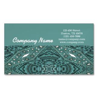 País occidental de cuero equipado turquesa moderna tarjetas de visita magnéticas (paquete de 25)