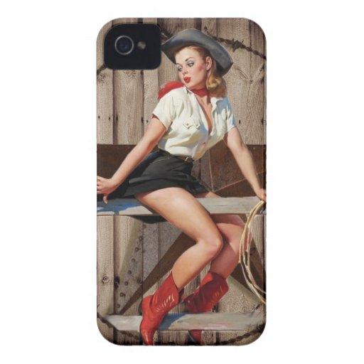 país occidental de la moda retra del vintage iPhone 4 Case-Mate carcasa