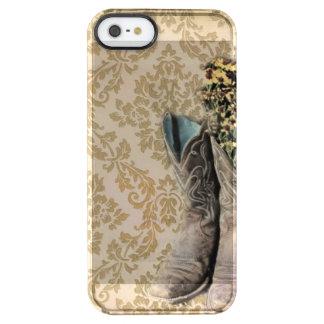 país occidental de las botas de vaquero del funda clearly™ deflector para iPhone 5 de uncommon