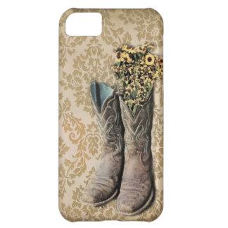 país occidental de las botas de vaquero del vintag funda para iPhone 5C
