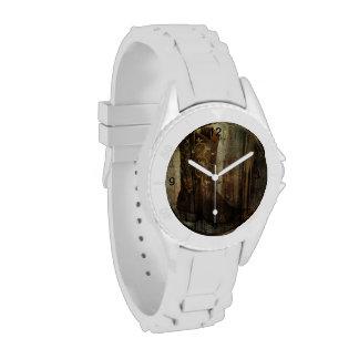 País occidental de madera de las botas de vaquero relojes de mano
