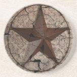 País occidental metálico rústico de la estrella de posavasos diseño
