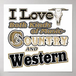 País occidental póster