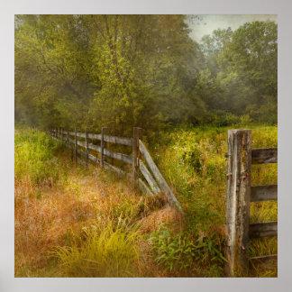 País - paisaje - prados perezosos póster