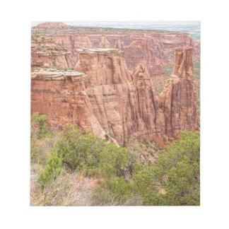 País rojo de la roca de Colorado Blocs De Notas