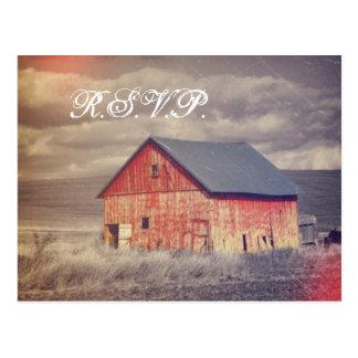país rojo occidental rústico del barnhouse que cas postal