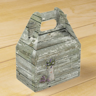 país rústico de la lavanda primitiva elegante cajas para detalles de boda