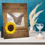 País rústico de la viruta cowboyWedding Placas Con Foto