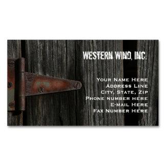 País rústico de madera y de la bisagra del granero tarjetas de visita magnéticas (paquete de 25)