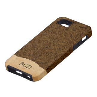 País rústico equipado con monograma de la mirada d iPhone 5 Case-Mate carcasa