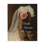 País subió casando la lona de madera cuadro de madera