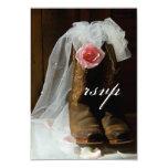 País subió casando la tarjeta de la respuesta invitación 8,9 x 12,7 cm