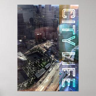 País urbano del viaje de la vida de ciudad póster