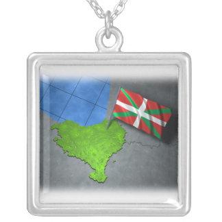 País vasco con su propia bandera colgante cuadrado